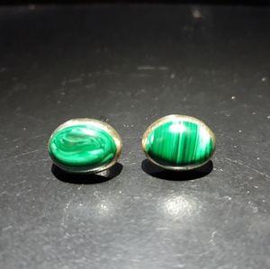 Natural Malachite Earrings t10